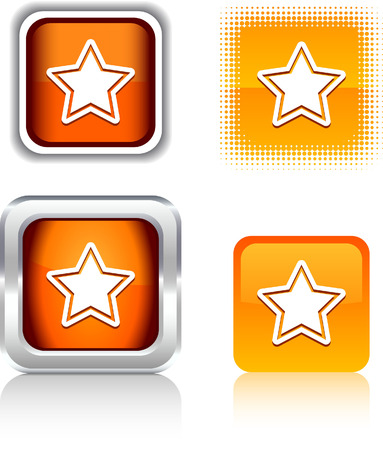 Star   square buttons. Vector illustration. Stock Vector - 6079081
