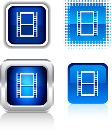 Cinema  square buttons. Vector illustration. Stock Vector - 6086026