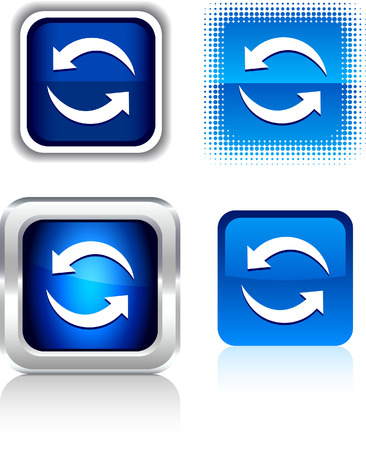 refresh: Refresh   square buttons. Vector illustration.
