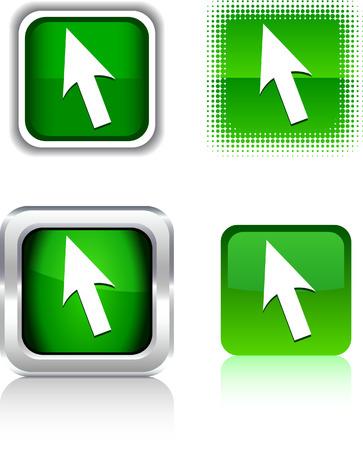 Cursor  square buttons. Vector illustration.  Stock Vector - 6085987