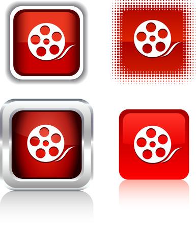 Media   square buttons. Vector illustration. Stock Vector - 6094356