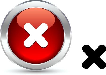 Cross   realistic button. Vector illustration. Stock Vector - 6103945