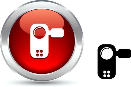 Video   realistic button. Vector illustration. Stock Vector - 6131129