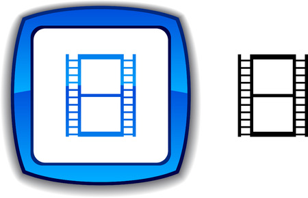 Cinema   realistic button. illustration.  Stock Vector - 6143350