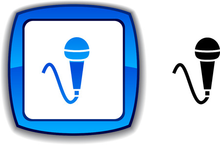 metall: Mic   realistic button. Vector illustration.  Illustration