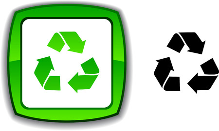 Recycle   realistic button. Vector illustration. Stock Vector - 6145243