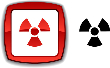 Radiation   realistic button. Vector illustration. Vector