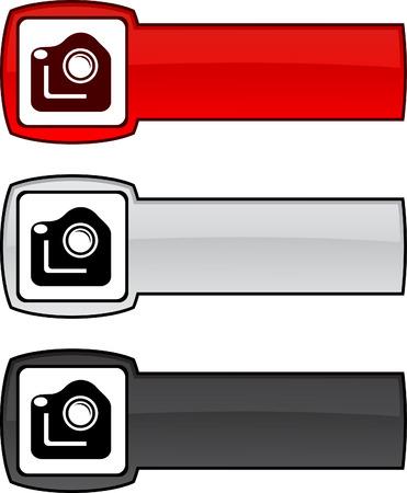 Photo   web button. Vector illustration.  Vector