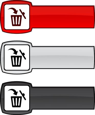 Delete  web button. Vector illustration.  Stock Vector - 6172336