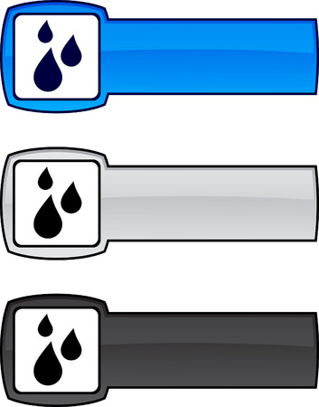 Rain   web button. Vector illustration. Stock Vector - 6173293