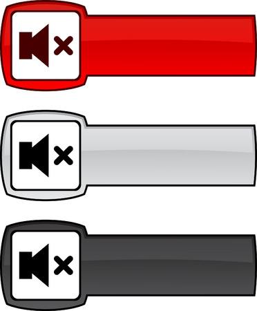 mute:  Mute   web button. Vector illustration.