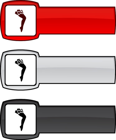legs stockings: Leg   web button. Vector illustration.  Illustration