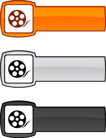 Media  web button. Vector illustration.  Stock Vector - 6182768
