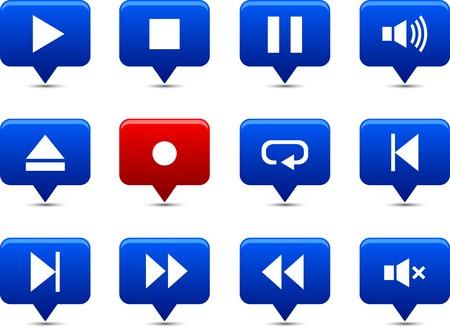 Player button set. Vector illustration.  Stock Vector - 6185523