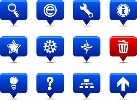web button set. Vector illustration. Stock Vector - 6185544