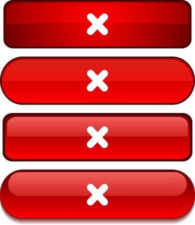 abort: Cross   web buttons. Vector illustration.