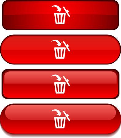 Delete   web buttons. Vector illustration. Stock Vector - 6217714