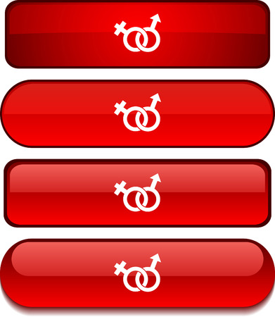 Sex web buttons. Vector illustration.