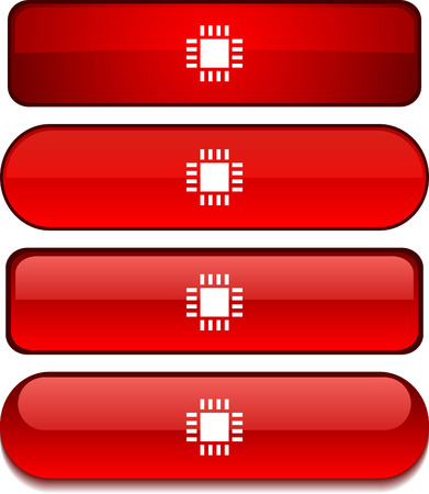 Cpu   web buttons. Vector illustration.  Stock Vector - 6233934
