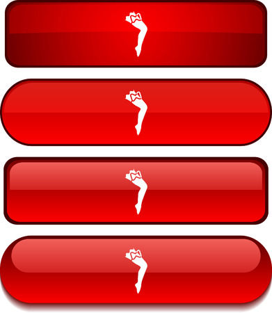 legs stockings:  Leg   web buttons. Vector illustration.  Illustration