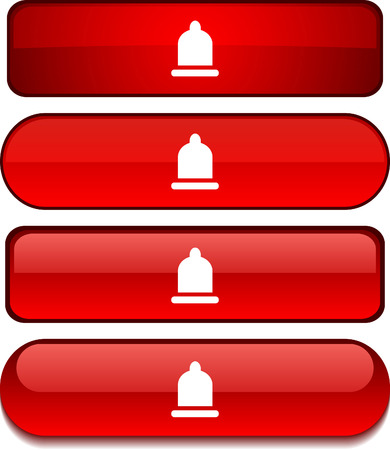 Condom   web buttons. Vector illustration. Stock Vector - 6233950