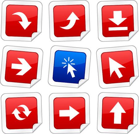 sticker vector: Arrows sticker set. Vector buttons.  Illustration
