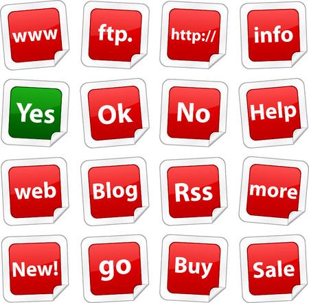 Internet sticker set. Vector buttons. Stock Vector - 6243957