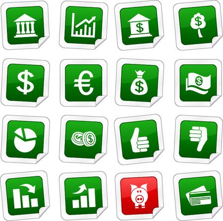 Money sticker set. Vector buttons.  Vector