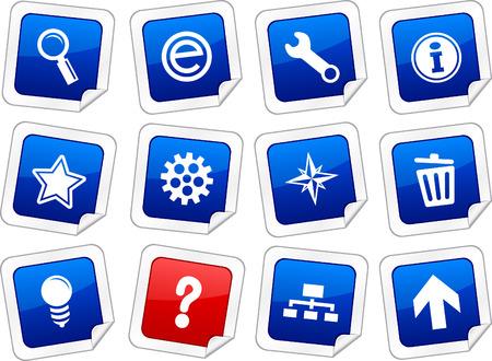 web sticker set. Vector buttons. Stock Vector - 6243940