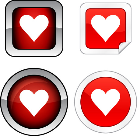 Love   web buttons. Vector illustration. Stock Vector - 6243958