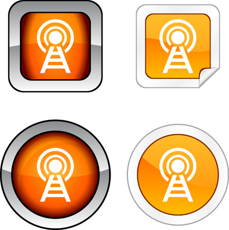 Communication web buttons. Stock Vector - 6255098