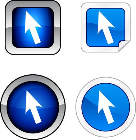 Cursor web buttons. Stock Vector - 6255082