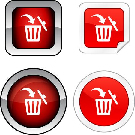 Delete web buttons.  Vector