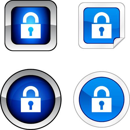 Padlock web buttons. Stock Vector - 6257210