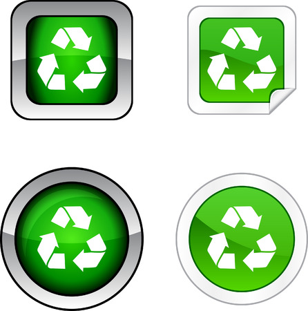 Recycle web buttons.  Stock Vector - 6257205