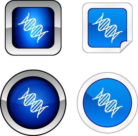 DNA web buttons.  Vector