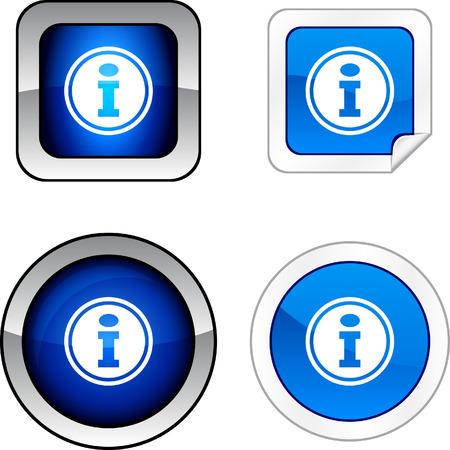 Info  web buttons. Vector illustration. Stock Vector - 6278550