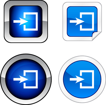 Entrance   web buttons. Vector illustration.  Stock Vector - 6278542