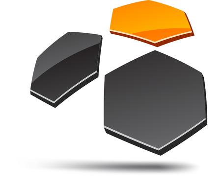 Abstract design element. Vector illustration. Vector