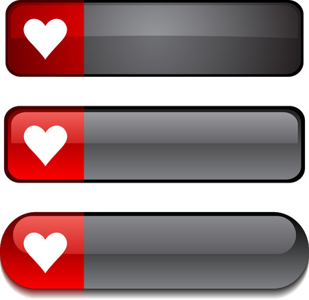 Love   web buttons. Vector illustration.   Vector