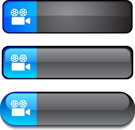 vector buttons: Cinema   web buttons. Vector illustration.