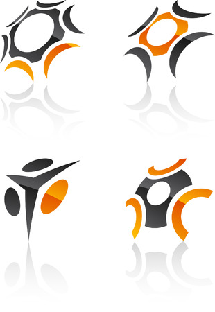 Abstract design symbols. Vector illustration. Vector