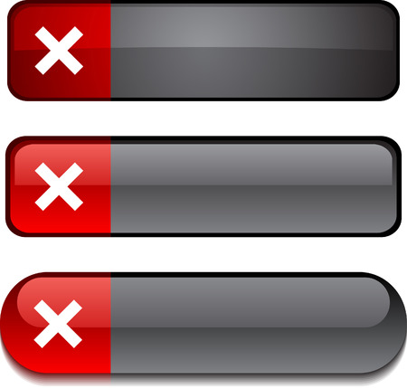 Abort  web buttons. Vector illustration.  Vector