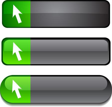 Cursor  web buttons. Vector illustration. Stock Vector - 6297221