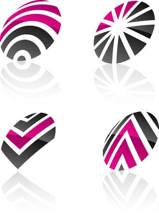Abstract design symbols. Vector illustration. Illustration