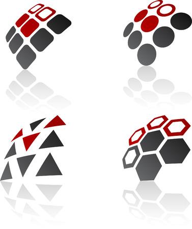 Abstract design symbols. Vector illustration. Stock Vector - 6297211
