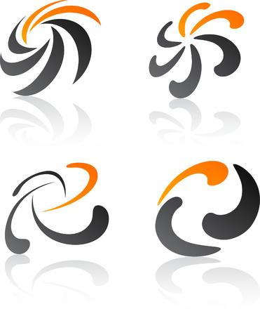 Abstract design symbols. Vector illustration. Stock Vector - 6297197