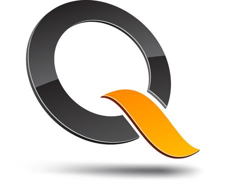 q: Q elemento di design. Illustrazione vettoriale.