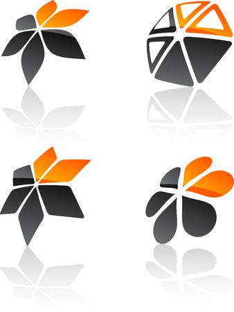 Abstract design symbols. Vector illustration. Stock Vector - 6308542