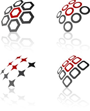 Abstract design symbols. Vector illustration. Stock Vector - 6308550